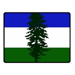 Flag of Cascadia Fleece Blanket (Small) 50 x40 Blanket Front