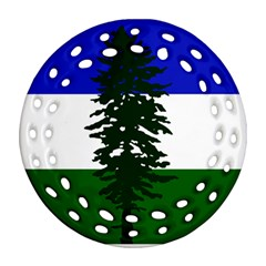 Flag Of Cascadia Round Filigree Ornament (two Sides) by abbeyz71