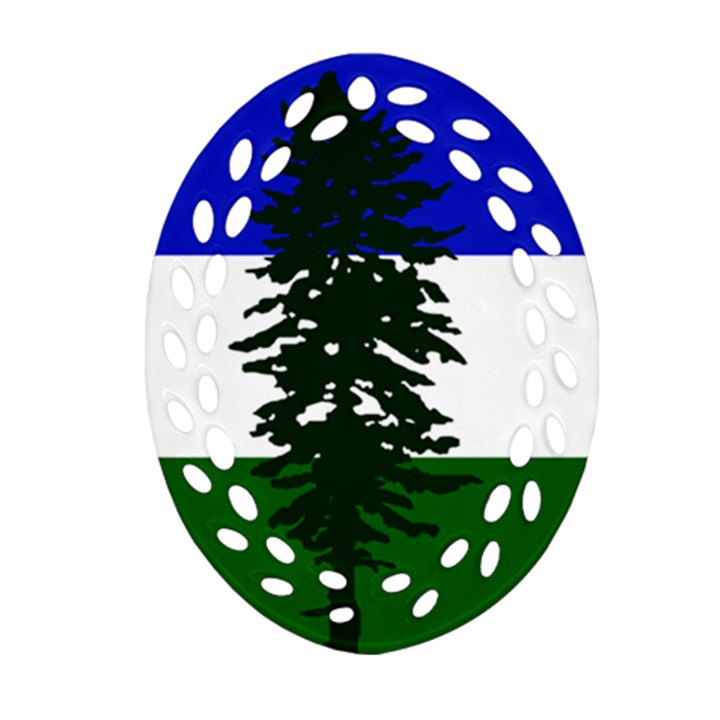 Flag of Cascadia Oval Filigree Ornament (Two Sides)