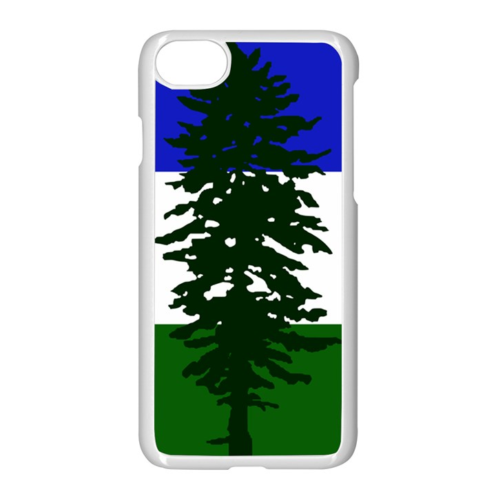 Flag of Cascadia Apple iPhone 8 Seamless Case (White)