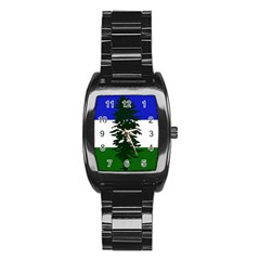 Flag Of Cascadia Stainless Steel Barrel Watch by abbeyz71
