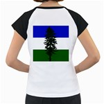 Flag of Cascadia Women s Cap Sleeve T Back