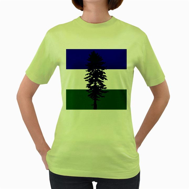 Flag of Cascadia Women s Green T-Shirt