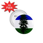 Flag of Cascadia 1.75  Buttons (10 pack) Front