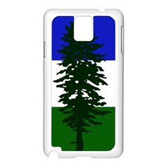 Flag Of Cascadia Samsung Galaxy Note 3 N9005 Case (white) by abbeyz71