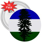 Flag of Cascadia 3  Buttons (10 pack)  Front