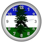 Flag of Cascadia Wall Clocks (Silver)  Front