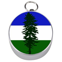 Flag Of Cascadia Silver Compasses by abbeyz71