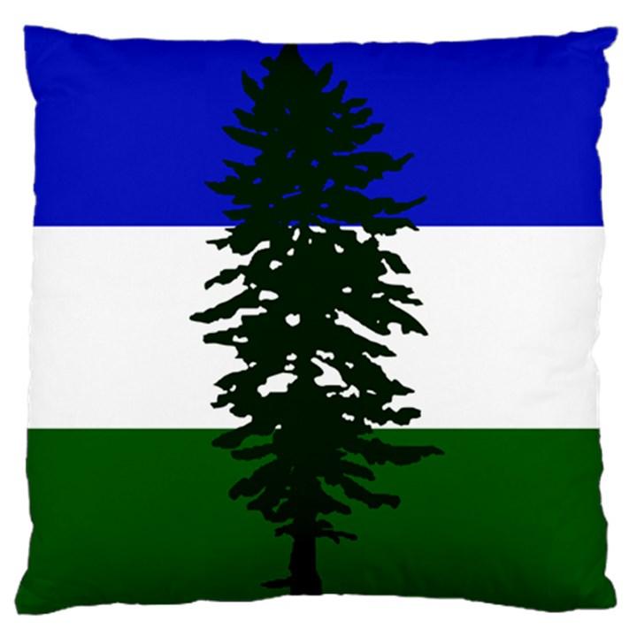 Flag of Cascadia Large Flano Cushion Case (One Side)