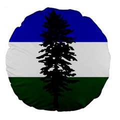 Flag Of Cascadia Large 18  Premium Flano Round Cushions by abbeyz71