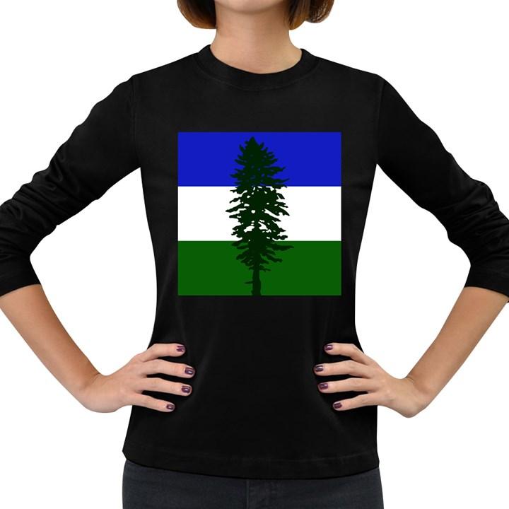 Flag of Cascadia Women s Long Sleeve Dark T-Shirts