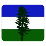 Flag of Cascadia Double Sided Flano Blanket (Small)  50 x40 Blanket Back