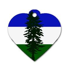 Flag Of Cascadia Dog Tag Heart (one Side) by abbeyz71