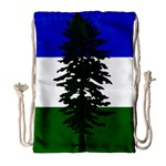 Flag of Cascadia Drawstring Bag (Large) Front