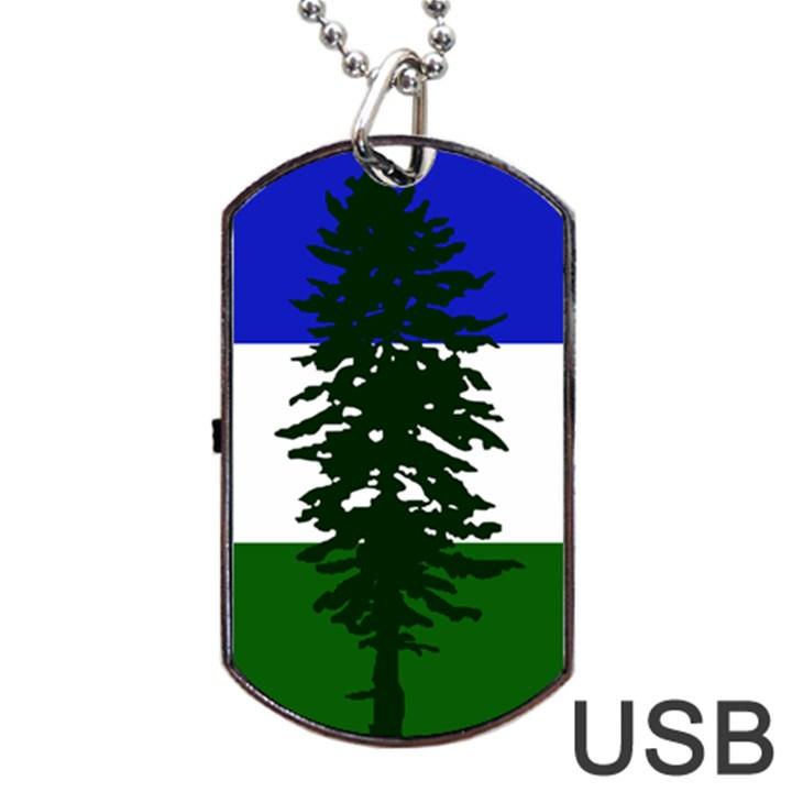 Flag of Cascadia Dog Tag USB Flash (One Side)