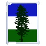 Flag of Cascadia Apple iPad 2 Case (White) Front