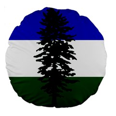 Flag Of Cascadia Large 18  Premium Round Cushions by abbeyz71