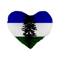 Flag Of Cascadia Standard 16  Premium Heart Shape Cushions