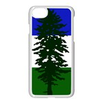 Flag of Cascadia Apple iPhone 7 Seamless Case (White) Front