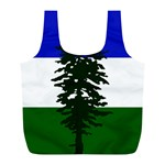 Flag of Cascadia Full Print Recycle Bags (L)  Back