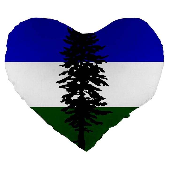Flag of Cascadia Large 19  Premium Flano Heart Shape Cushions