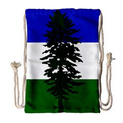 Flag Of Cascadia Drawstring Bag (large) by abbeyz71
