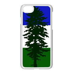 Flag Of Cascadia Apple Iphone 7 Seamless Case (white) by abbeyz71