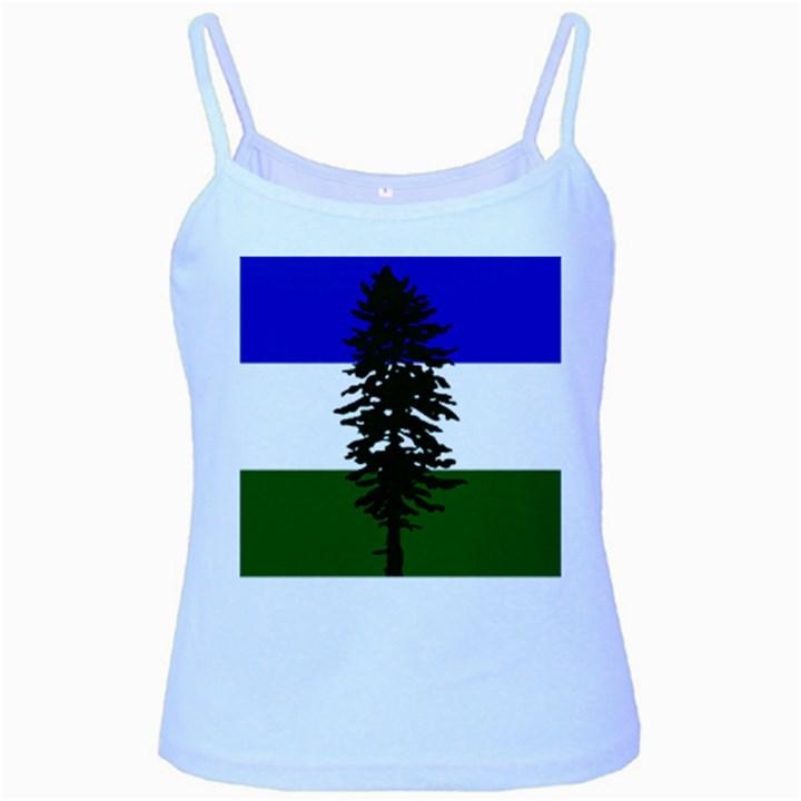 Flag of Cascadia Baby Blue Spaghetti Tank