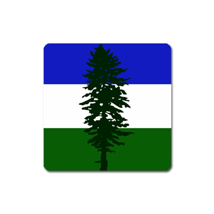 Flag of Cascadia Square Magnet
