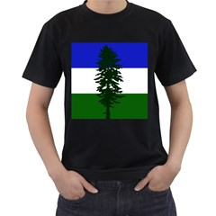 Flag Of Cascadia Men s T Shirt (black) (two Sided)