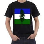 Flag of Cascadia Men s T-Shirt (Black) (Two Sided) Front
