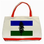 Flag of Cascadia Classic Tote Bag (Red) Front