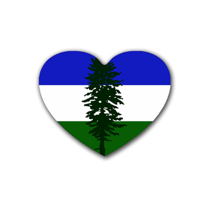 Flag of Cascadia Rubber Coaster (Heart)