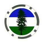 Flag of Cascadia Poker Chip Card Guard Back