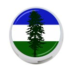 Flag of Cascadia 4-Port USB Hub (One Side) Front