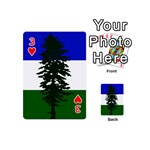 Flag of Cascadia Playing Cards 54 (Mini)  Front - Heart3