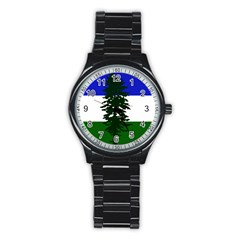 Flag Of Cascadia Stainless Steel Round Watch by abbeyz71