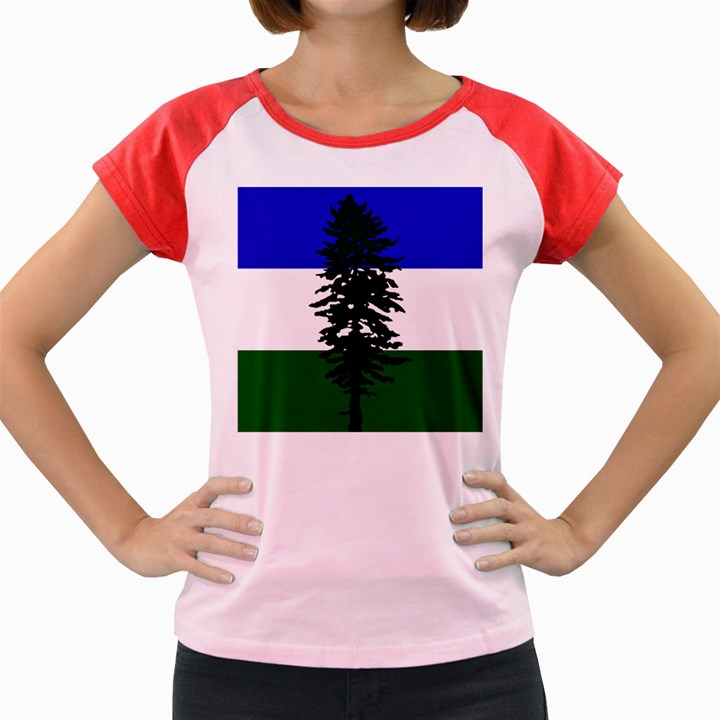 Flag of Cascadia Women s Cap Sleeve T-Shirt