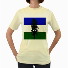 Flag Of Cascadia Women s Yellow T Shirt