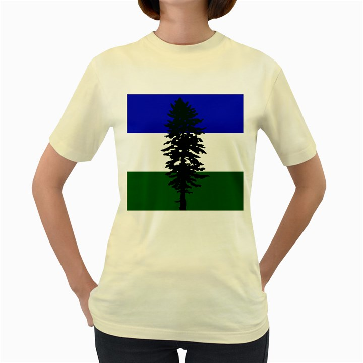 Flag of Cascadia Women s Yellow T-Shirt