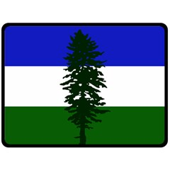 Flag Of Cascadia Double Sided Fleece Blanket (large)  by abbeyz71
