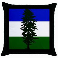 Flag Of Cascadia Throw Pillow Case (black) by abbeyz71