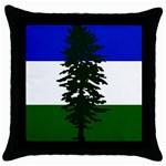 Flag of Cascadia Throw Pillow Case (Black) Front