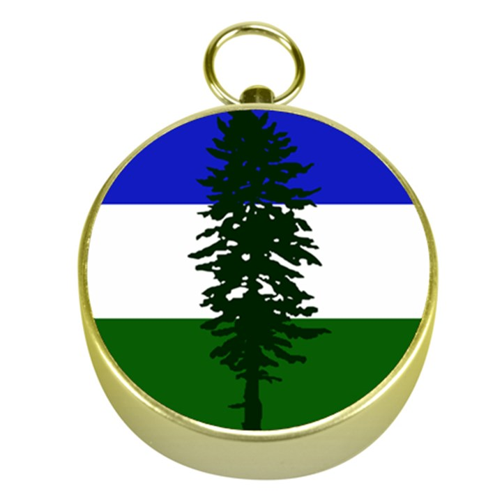 Flag of Cascadia Gold Compasses