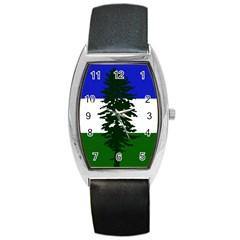 Flag Of Cascadia Barrel Style Metal Watch