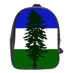 Flag Of Cascadia School Bag (large) by abbeyz71