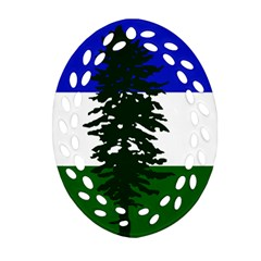 Flag Of Cascadia Oval Filigree Ornament (two Sides) by abbeyz71