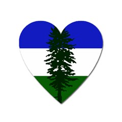 Flag Of Cascadia Heart Magnet by abbeyz71
