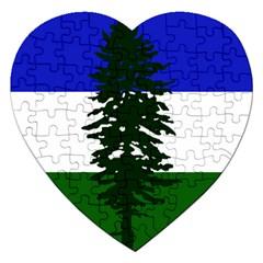 Flag Of Cascadia Jigsaw Puzzle (heart) by abbeyz71