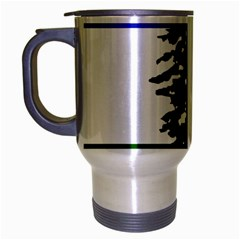 Flag Of Cascadia Travel Mug (silver Gray) by abbeyz71